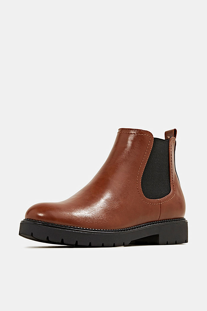 Chelsea boots in faux leather, TOFFEE, detail image number 2