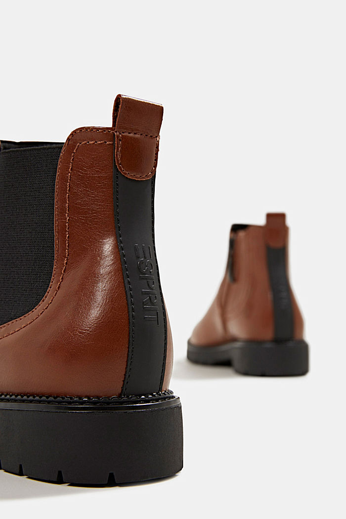 Chelsea boots in faux leather, TOFFEE, detail image number 4