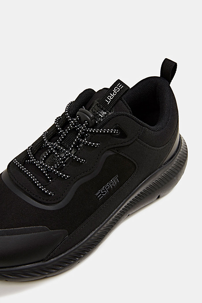 Trainers in a mix of materials, BLACK, detail image number 4