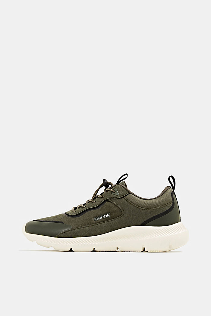 Trainers in a mix of materials