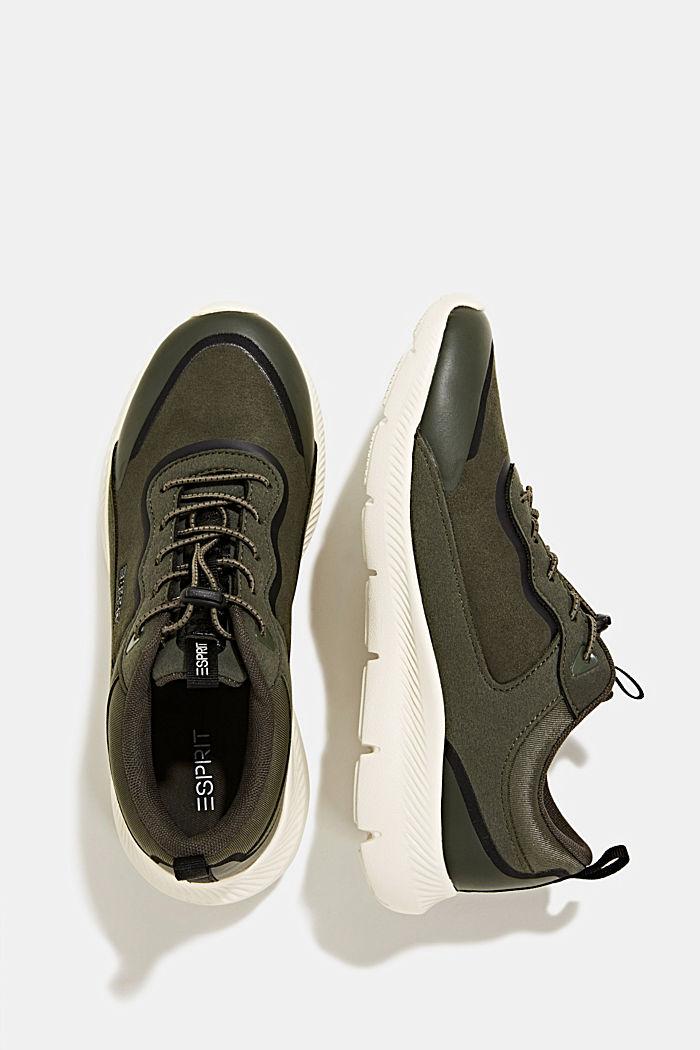Sneaker aus Material-Mix, DARK GREEN, detail image number 1