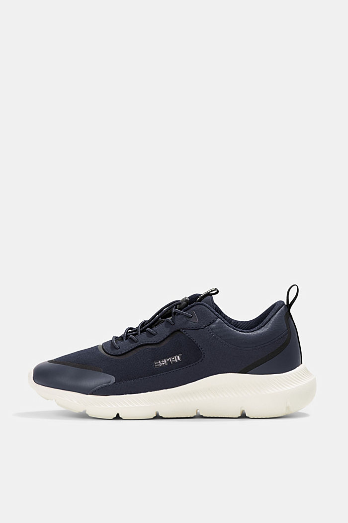 Trainers in a mix of materials, NAVY, detail image number 0