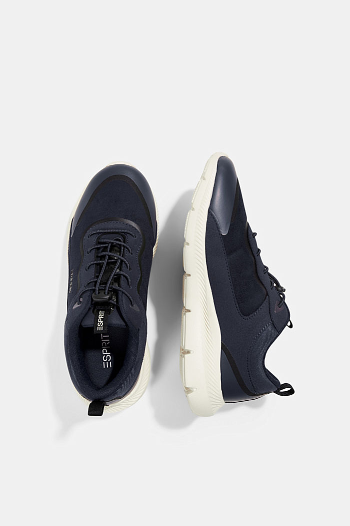 Trainers in a mix of materials, NAVY, detail image number 1