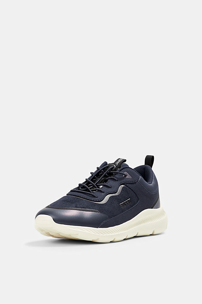 Trainers in a mix of materials, NAVY, detail image number 2