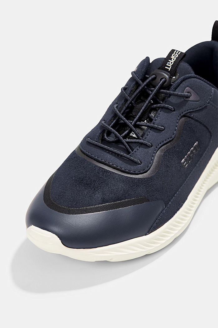 Trainers in a mix of materials, NAVY, detail image number 4