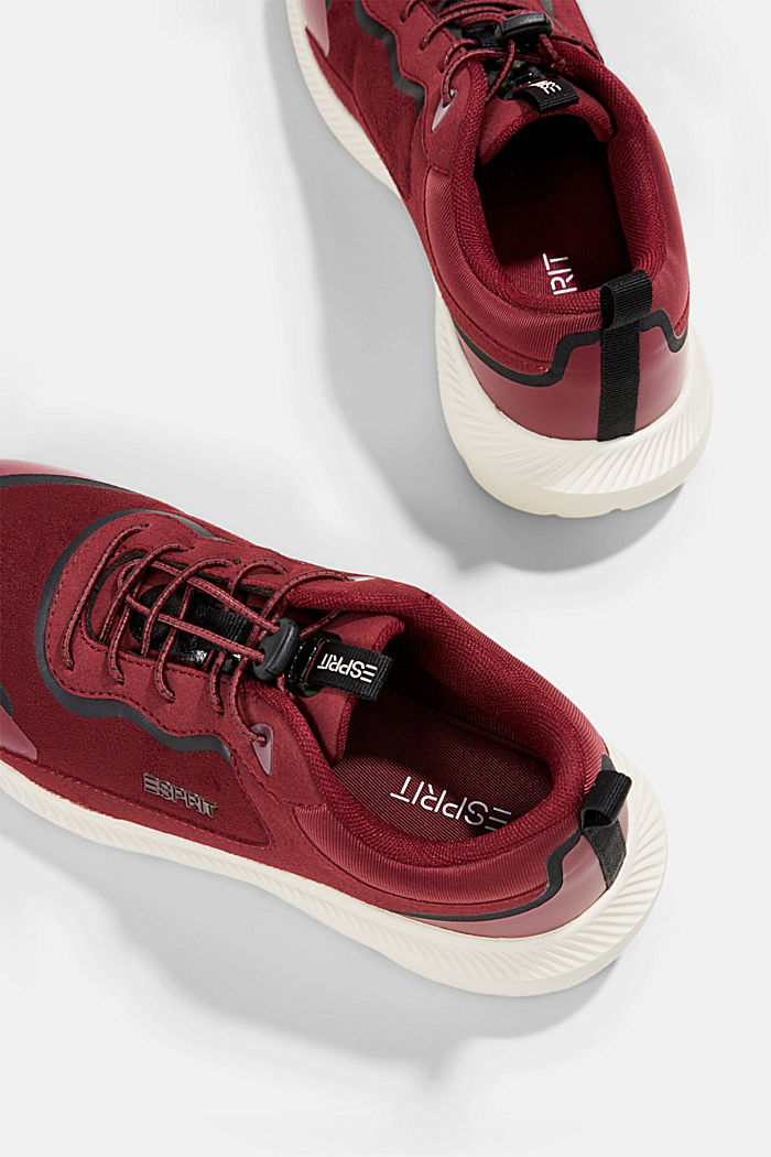 Trainers in a mix of materials, BORDEAUX RED, detail image number 5