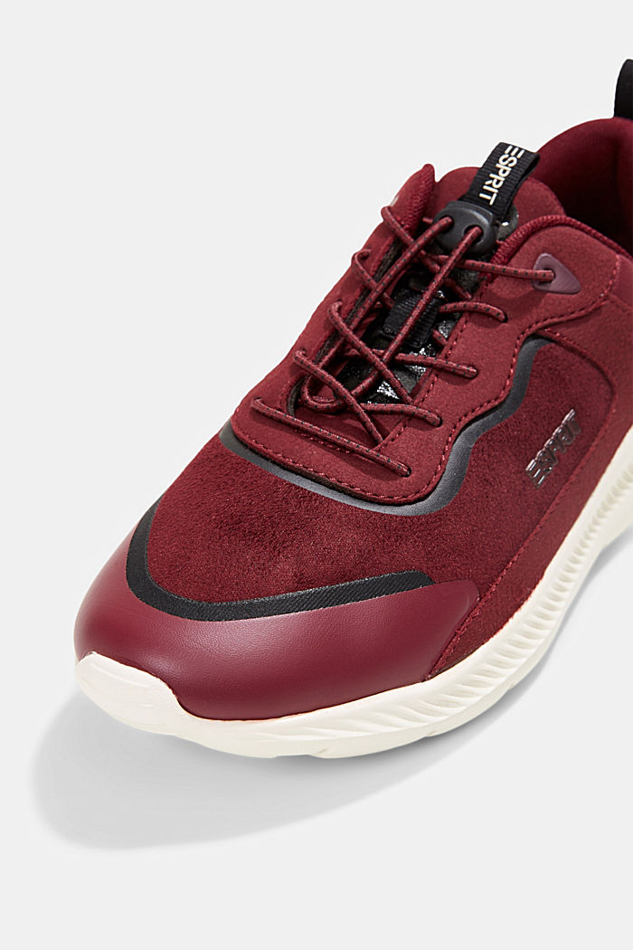Trainers in a mix of materials, BORDEAUX RED, detail image number 4