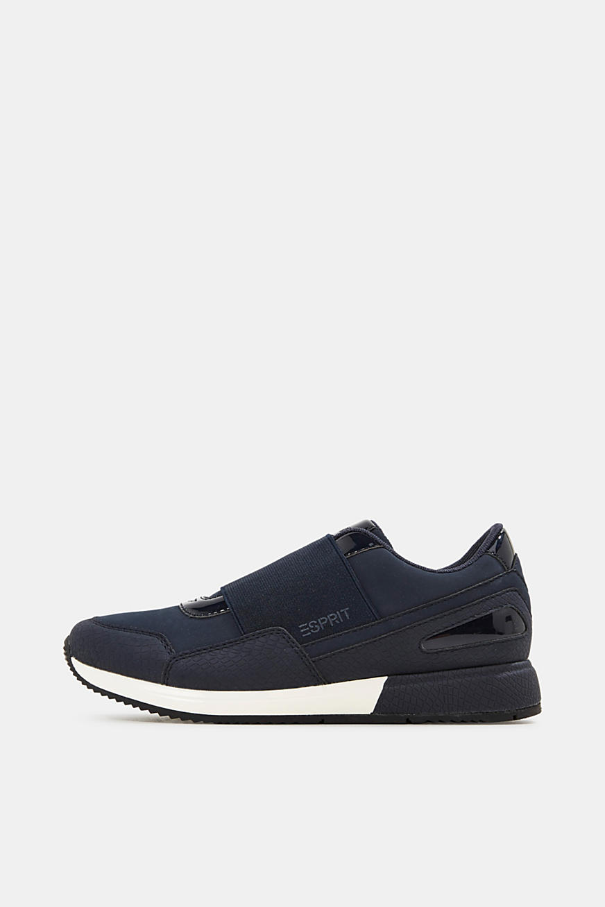 Slip-on trainers with patent details