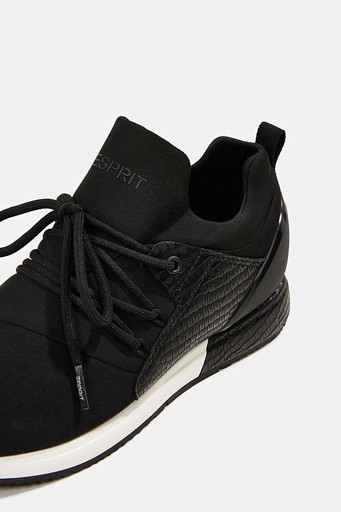 Sneakers composées de néoprène et ornées d´une estampe façon reptile, BLACK, detail image number 4