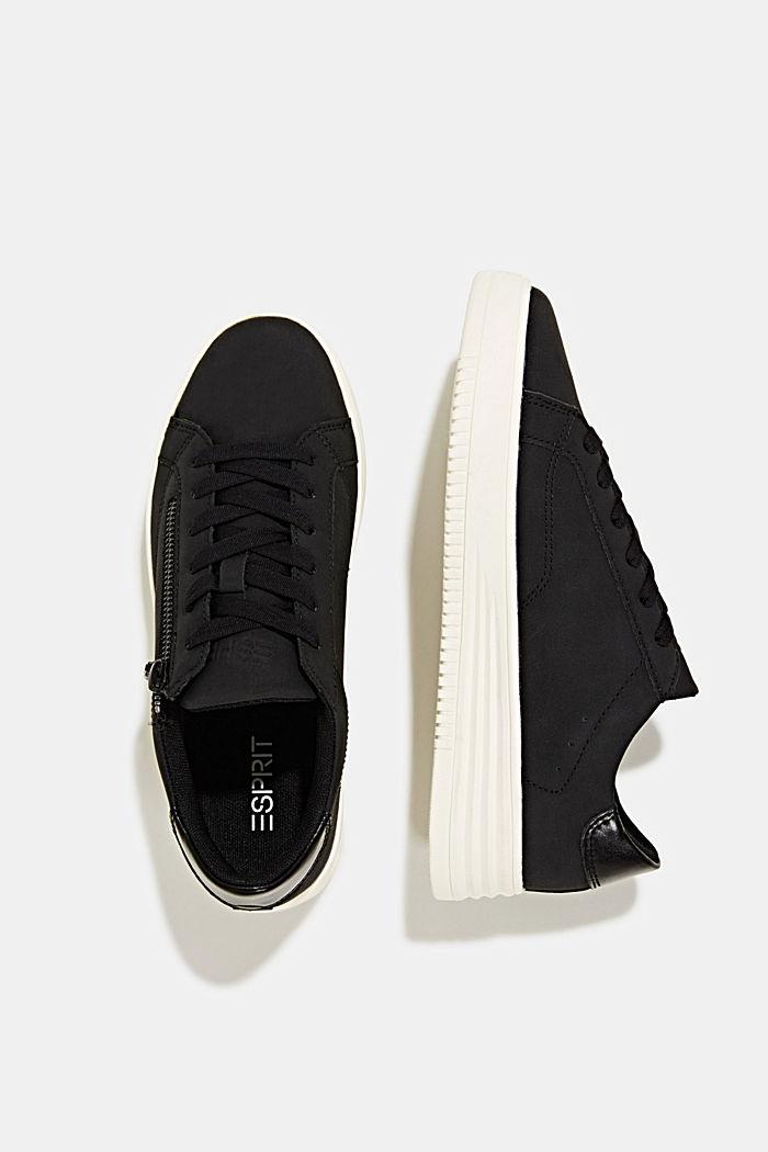 Sneaker in Leder-Optik mit breiter Sohle, BLACK, detail image number 5