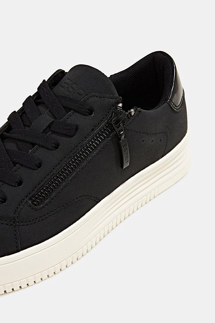 Sneaker in Leder-Optik mit breiter Sohle, BLACK, detail image number 3