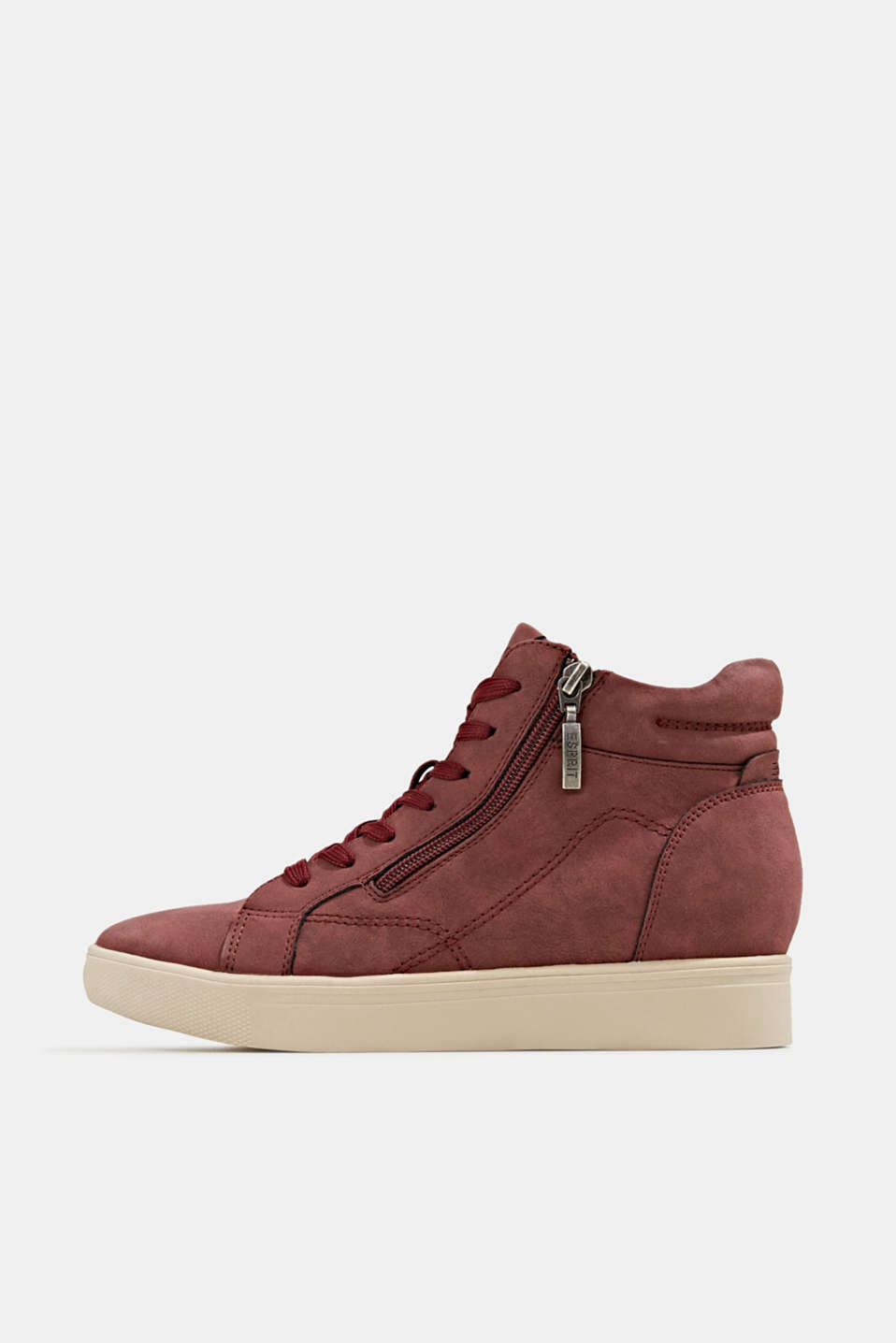 Esprit - Wedge-sneakers i læderlook