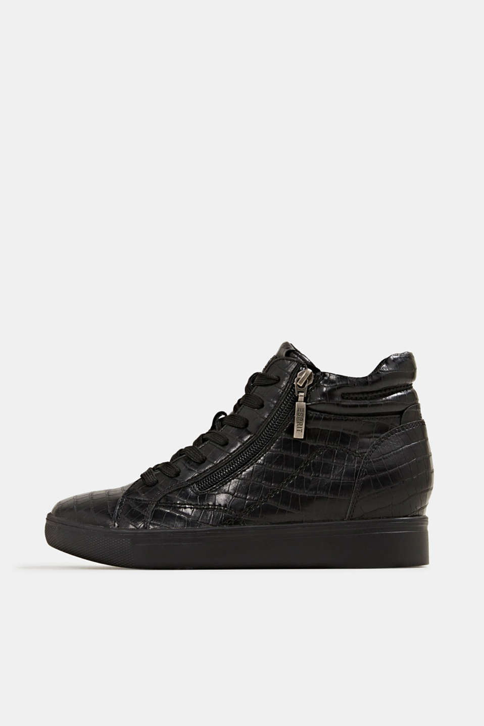 Esprit - Wedge-Sneaker in Leder-Optik