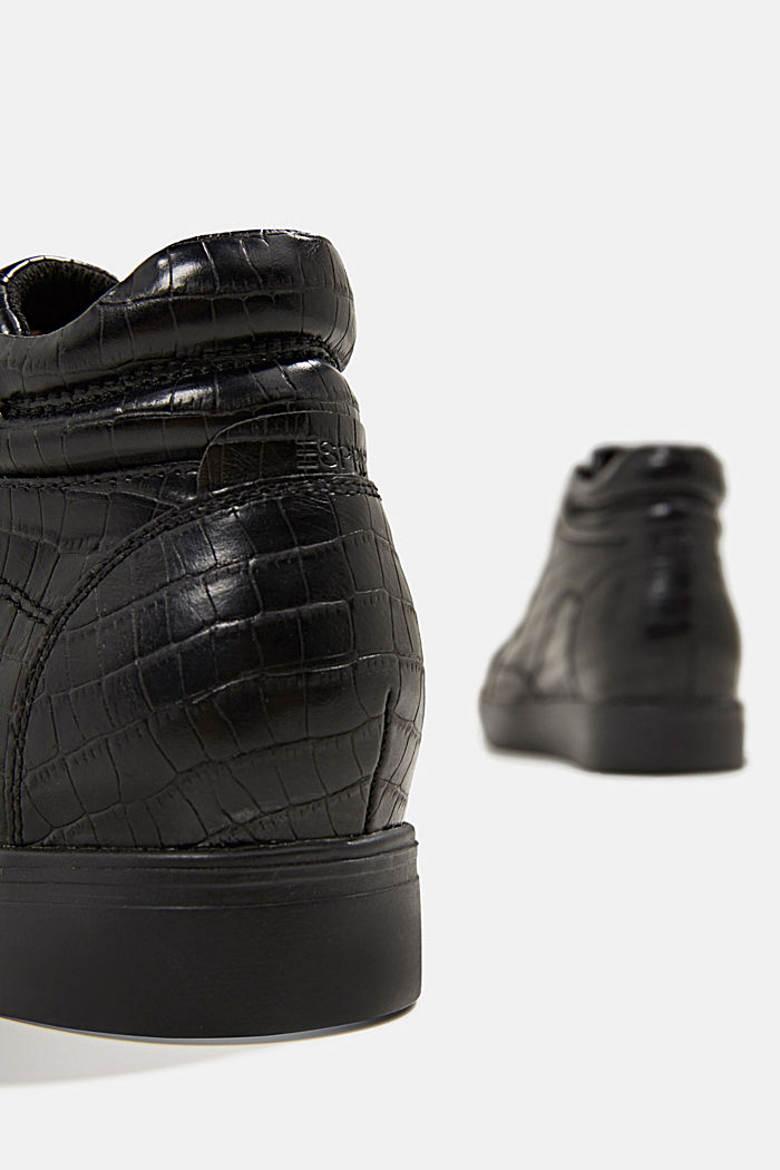 Wedge trainers in faux leather, BLACK, detail image number 5
