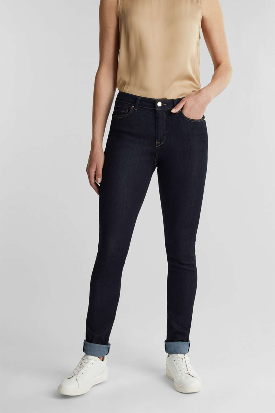 Esprit - Business jeans with organic cotton