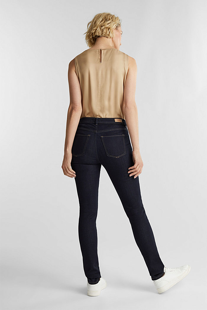 Business jeans with organic cotton, BLUE RINSE, detail image number 3