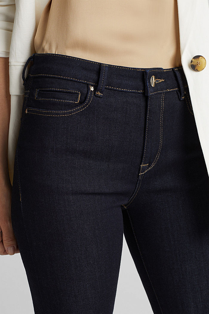 Business jeans with organic cotton, BLUE RINSE, detail image number 5
