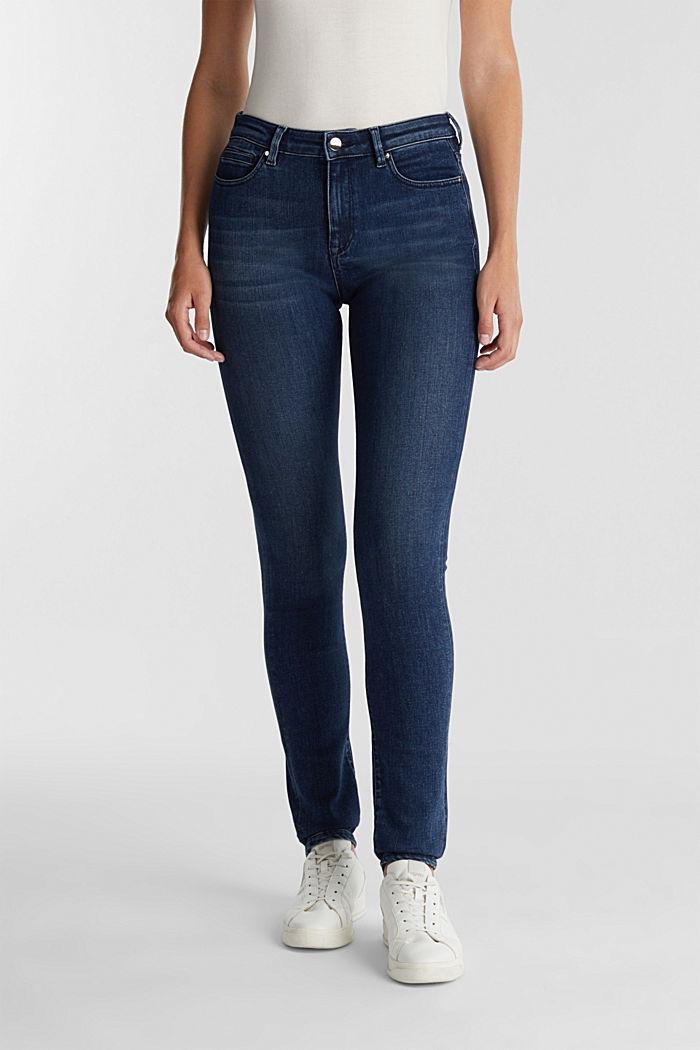 Business jeans with organic cotton, BLUE MEDIUM WASHED, detail image number 0