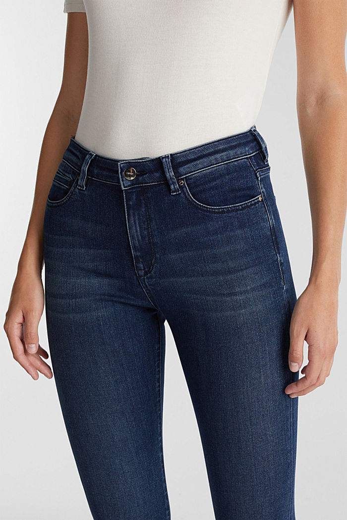 Business jeans with organic cotton, BLUE MEDIUM WASHED, detail image number 2