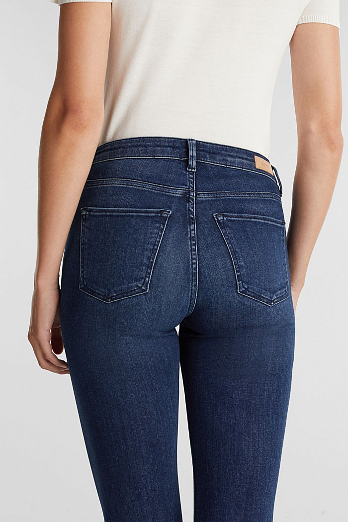 Business jeans with organic cotton, BLUE MEDIUM WASHED, detail image number 5
