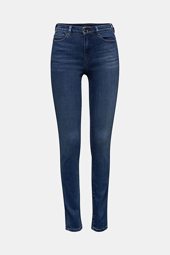 Business jeans with organic cotton, BLUE MEDIUM WASHED, detail image number 6