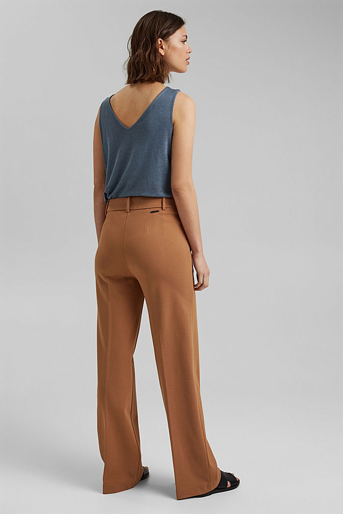 Recycled: PUNTO Mix & Match trousers, CAMEL, detail image number 3