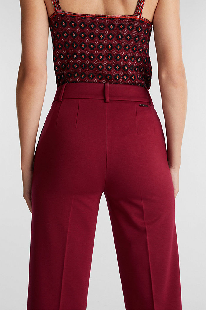 Recycled: PUNTO Mix & Match trousers, BORDEAUX RED, detail image number 2