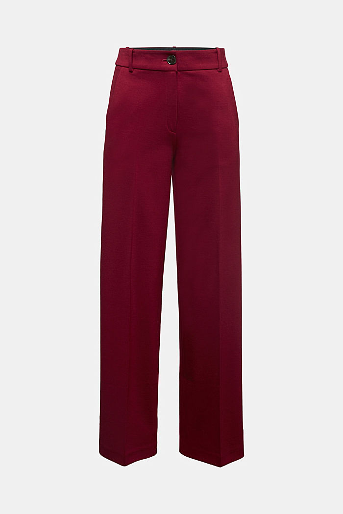 Recycled: PUNTO Mix & Match trousers, BORDEAUX RED, detail image number 6