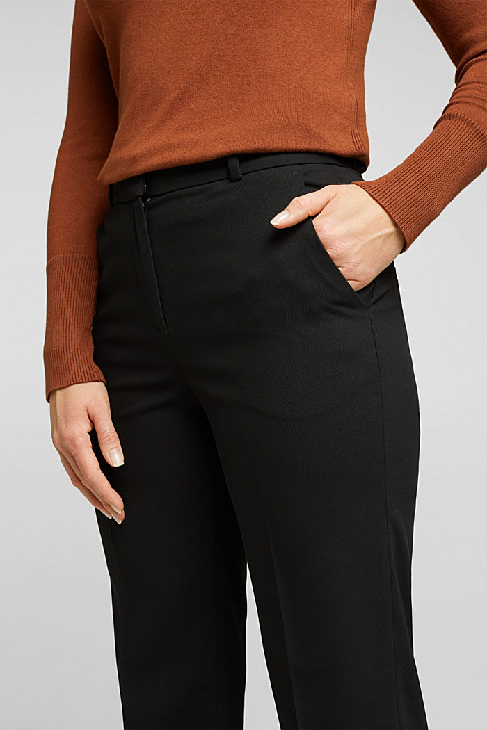 TWILL STRUCTURE mix + match trousers, BLACK, detail image number 2
