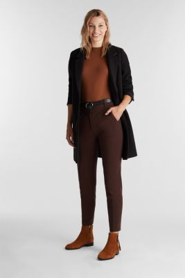 Recycled: PUNTO Mix & Match trousers, DARK BROWN, detail