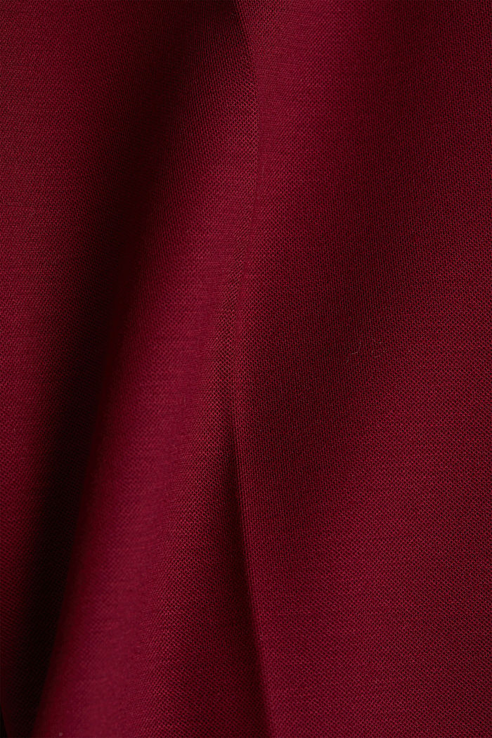 Recycled: PUNTO Mix & Match trousers, BORDEAUX RED, detail image number 4