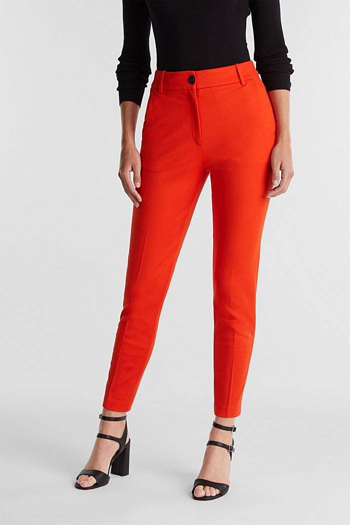 Recycled: PUNTO Mix & Match trousers, RUST ORANGE, detail image number 0