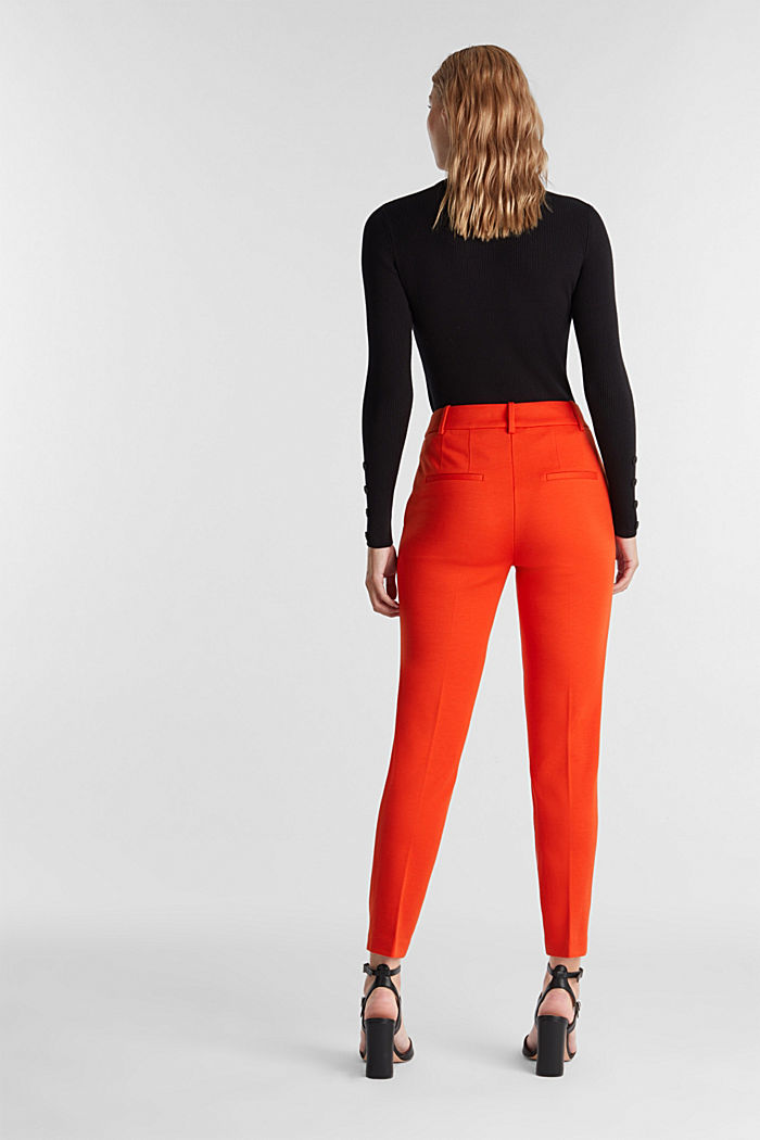 Recycled: PUNTO Mix & Match trousers, RUST ORANGE, detail image number 3