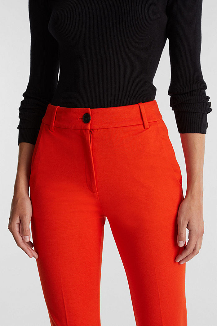 Recycled: PUNTO Mix & Match trousers, RUST ORANGE, detail image number 5