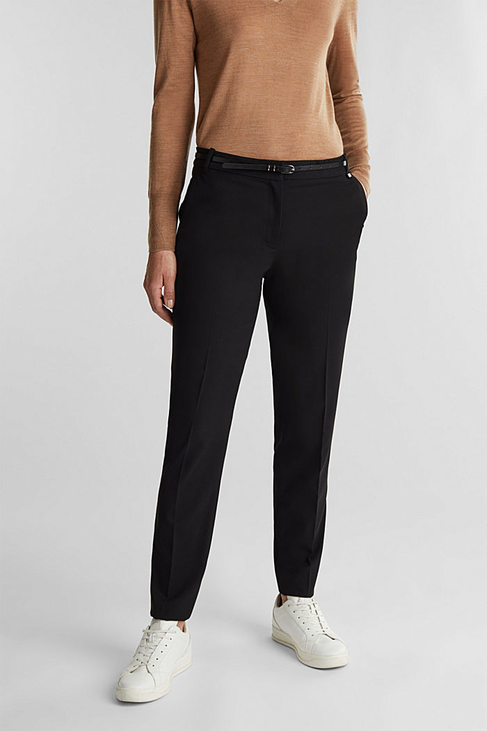 PURE BUSSINESS Mix + Match Trousers, BLACK, detail image number 0
