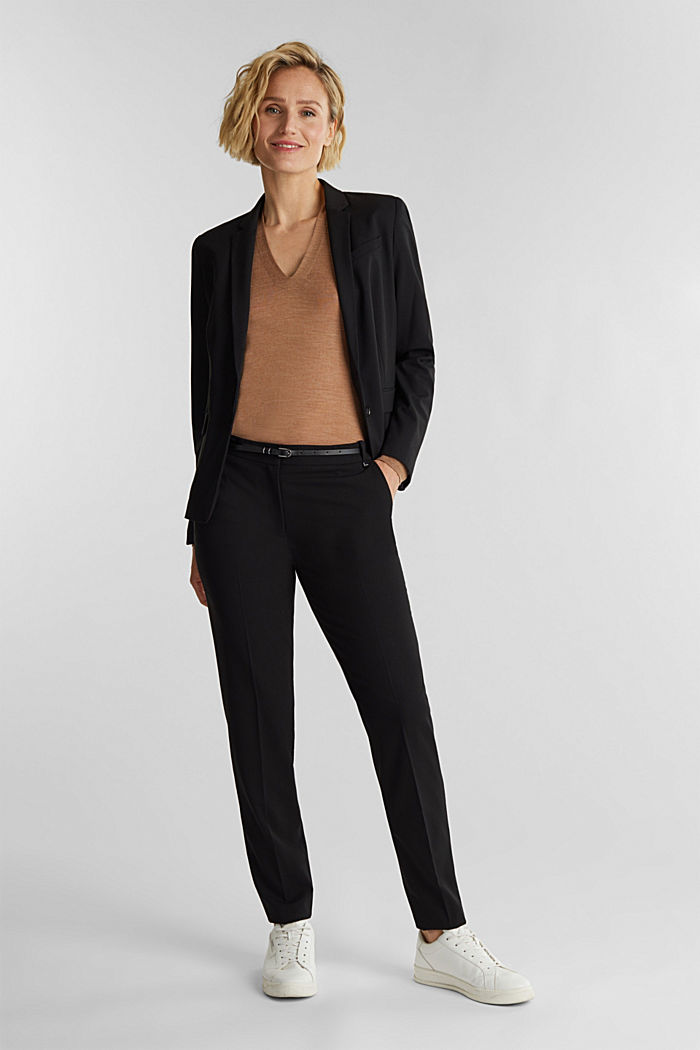PURE BUSSINESS Mix + Match Trousers, BLACK, detail image number 1