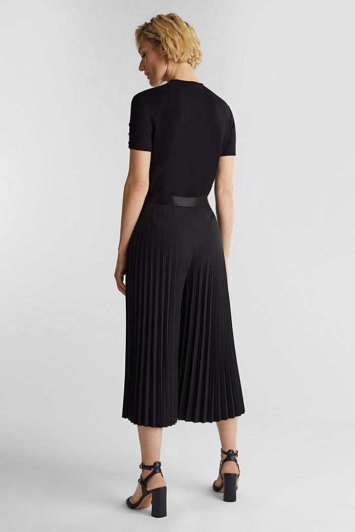 Recycled: culottes with pleats, BLACK, detail image number 3