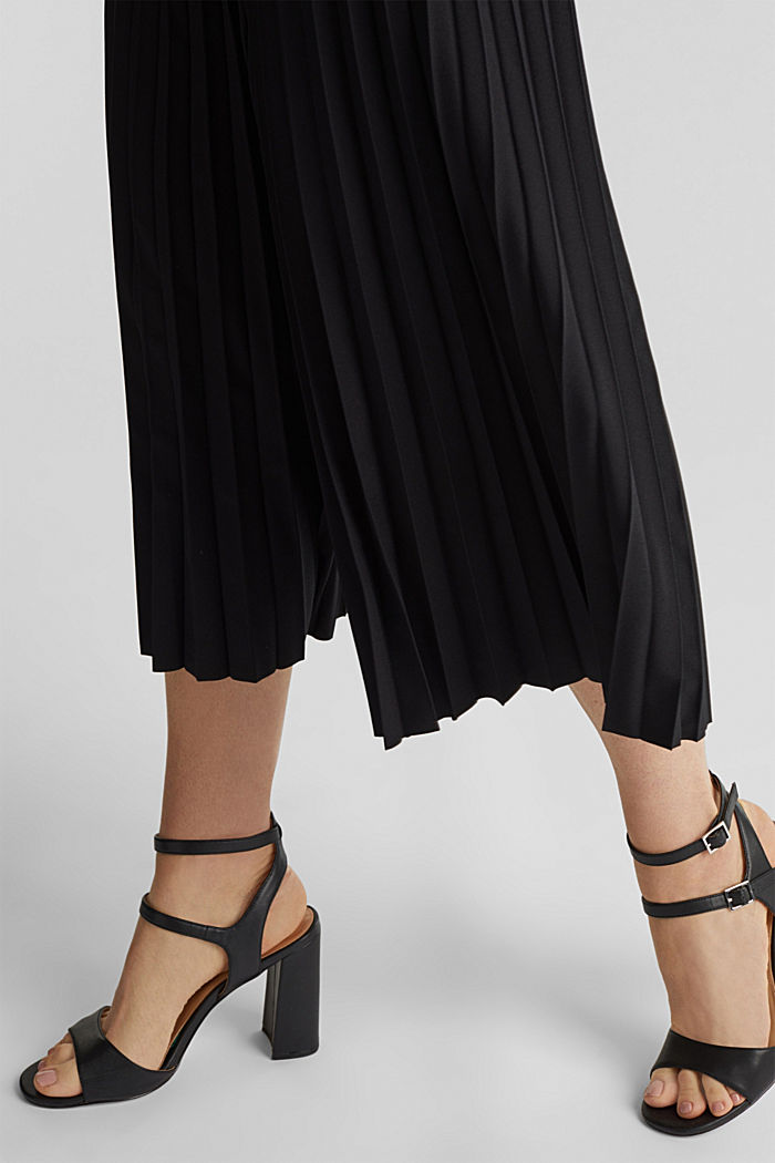 Recycled: culottes with pleats, BLACK, detail image number 2