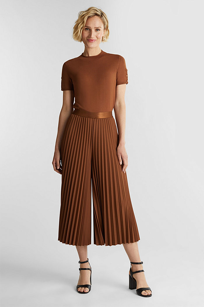 In materiale riciclato: culotte con pieghe plissettate, TOFFEE, detail image number 1