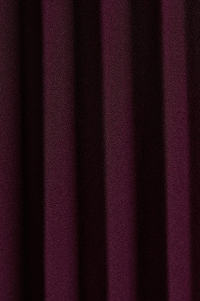 Recycled: culottes with pleats, BORDEAUX RED, detail image number 4