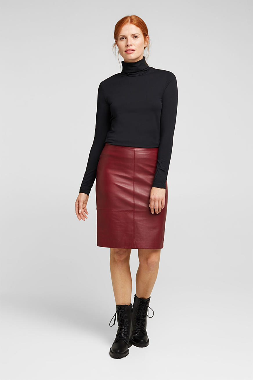 Pencil skirt made of 100% leather