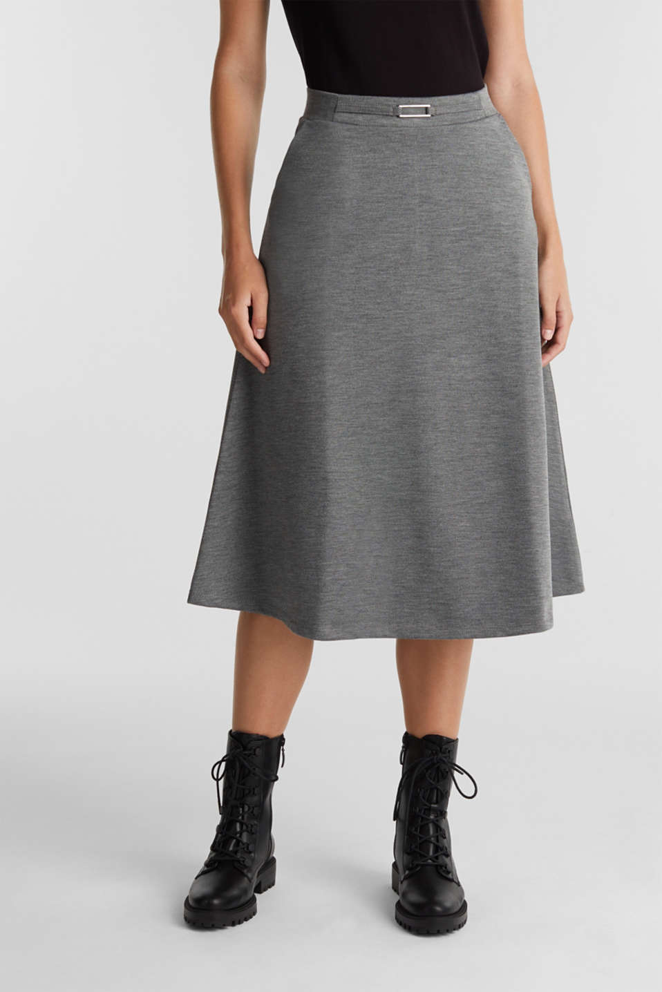 Esprit - Jersey skirt with stretch for comfort
