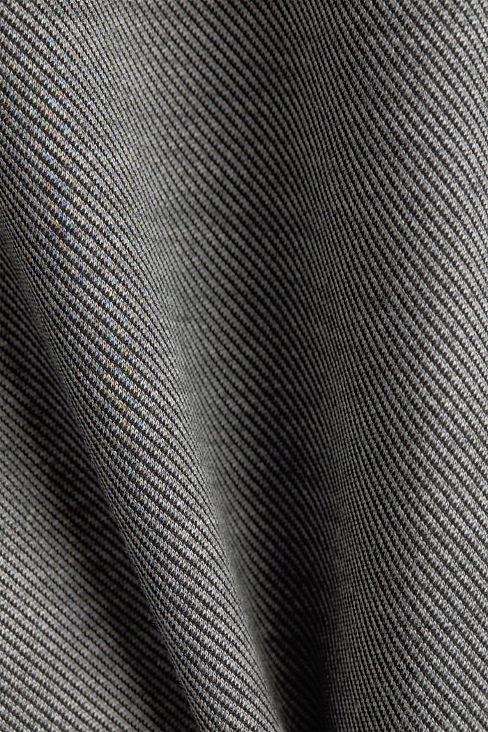 Jersey skirt with stretch for comfort, GUNMETAL, detail image number 4