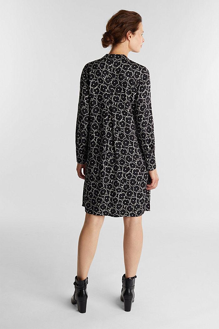 Modern, printed LENZING™ ECOVERO™ dress, BLACK, detail image number 1