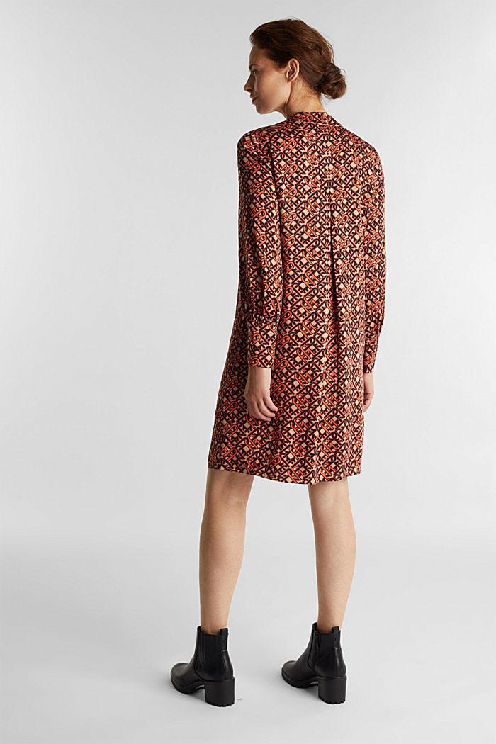 Modern, printed LENZING™ ECOVERO™ dress, CAMEL, detail image number 1