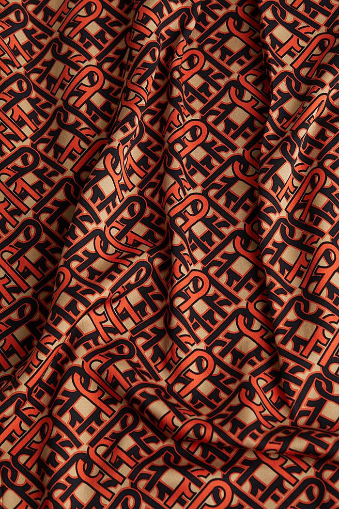 Modern, printed LENZING™ ECOVERO™ dress, CAMEL, detail image number 3