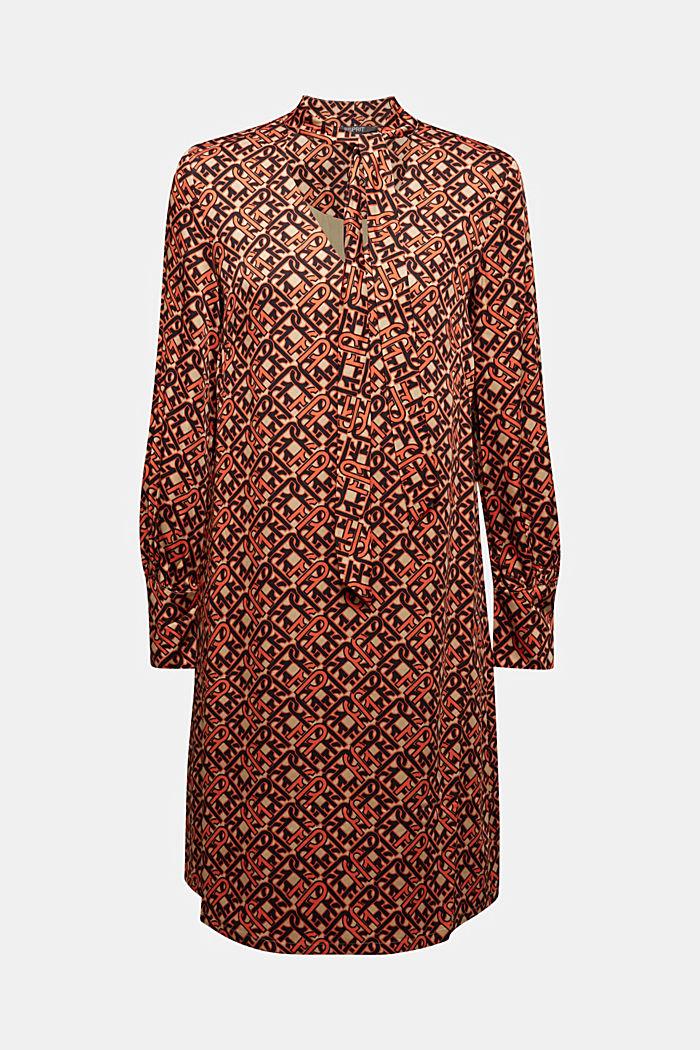 Modern, printed LENZING™ ECOVERO™ dress, CAMEL, detail image number 5