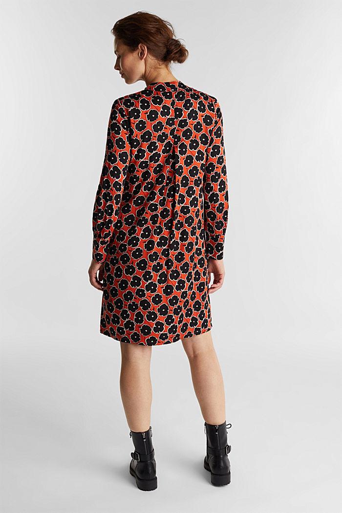 Modern, printed LENZING™ ECOVERO™ dress, ORANGE, detail image number 1
