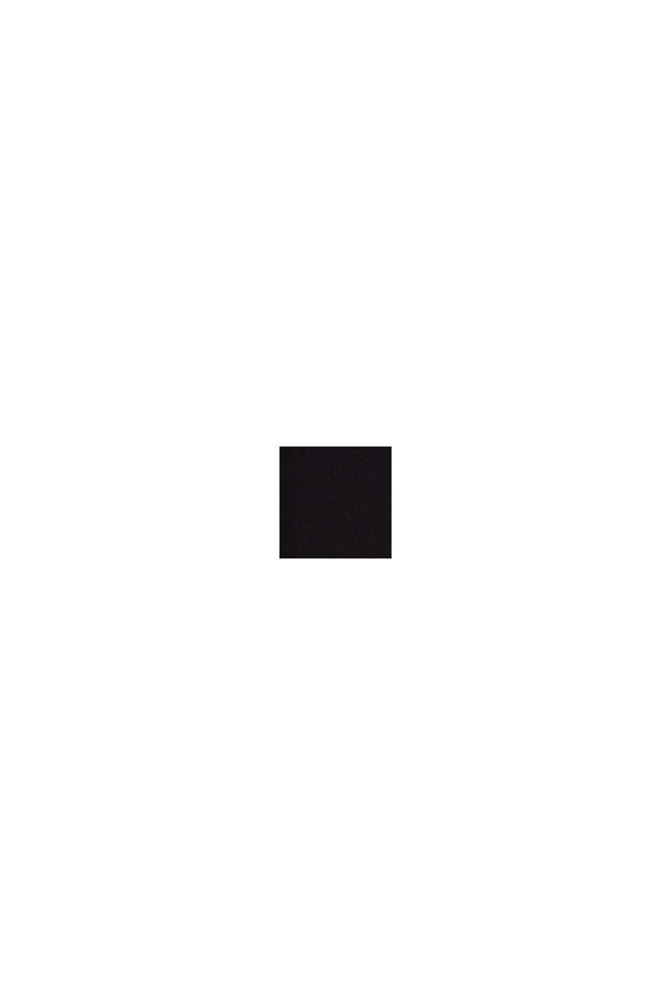 Recyclée: la robe cintrée à col droit, BLACK, swatch