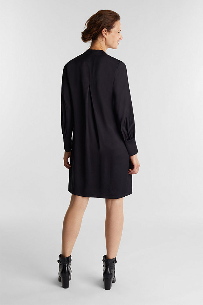 Satin-Kleid aus LENZING™ ECOVERO™, BLACK, detail image number 2